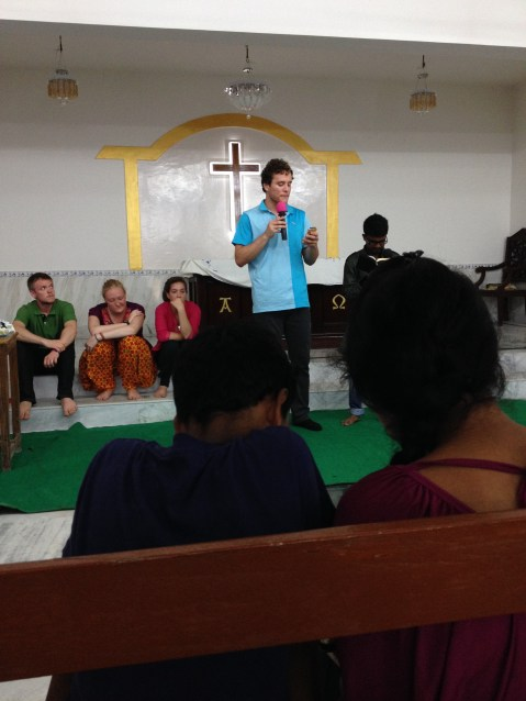 Caleb Speaking At The Youth Service