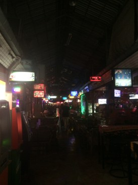Inside the Pavilion in the Red Light District.