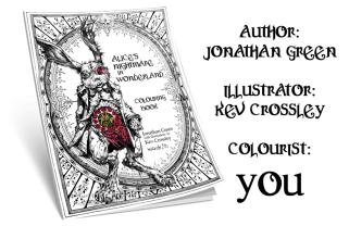 Snowbook Alice's Colouring Book banner