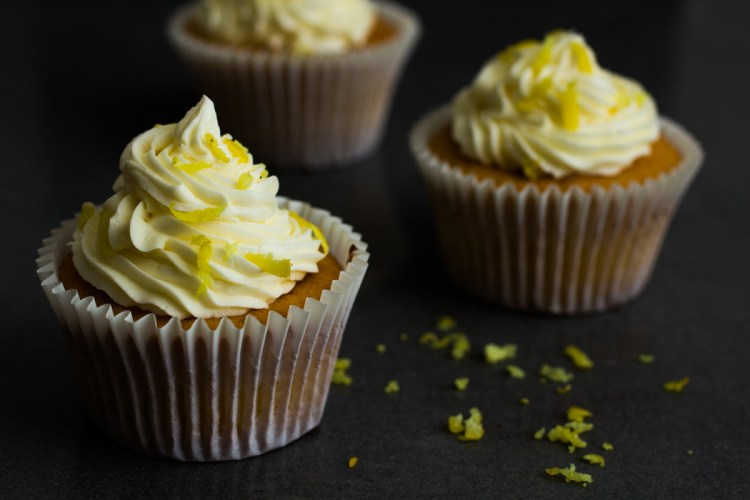 Lemon Cupcakes with Lemon Buttercream Icing