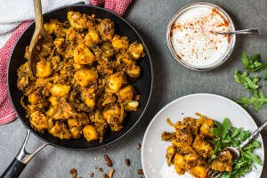 Sri Lankan Devilled Potatoes Recipe and Food Photography by Shika Finnemore, The Bellephant