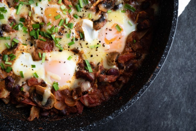 Smoky One-pot Eggs and Beans