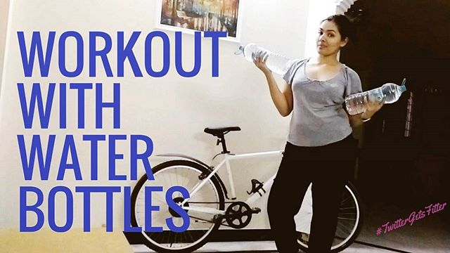 Home Workouts : Workout with Water Bottles