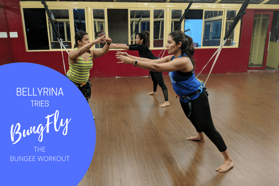 Bungee Workout Review : Bellyrina Tries BungFly!