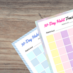 Habit Tracker Printable | Fitness Blog | TwitterGetsFitter
