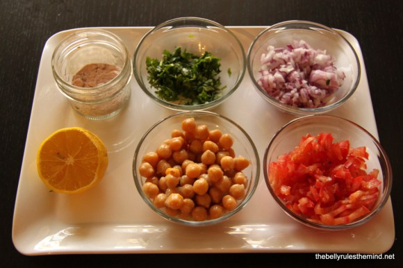 Chickpea Salad / Chaat for Toddlers