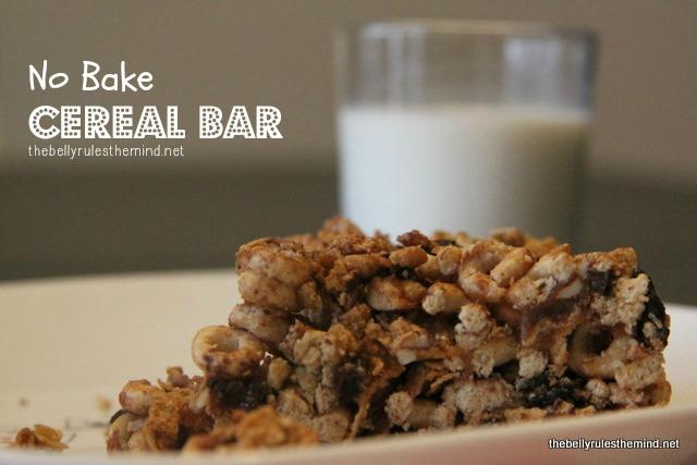 No Bake Cereal Bar
