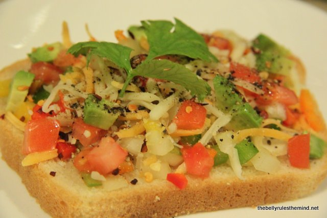 Veggie Cheese Toast