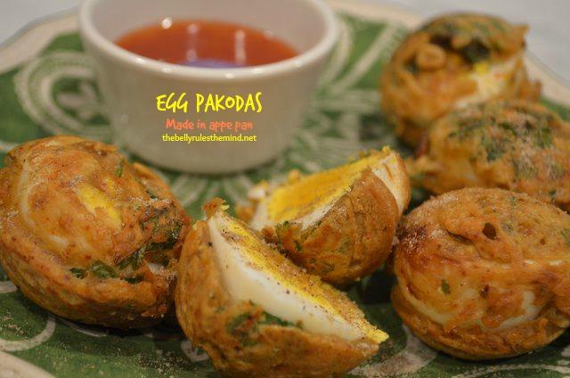 Egg Pakodas made in Appe Pan