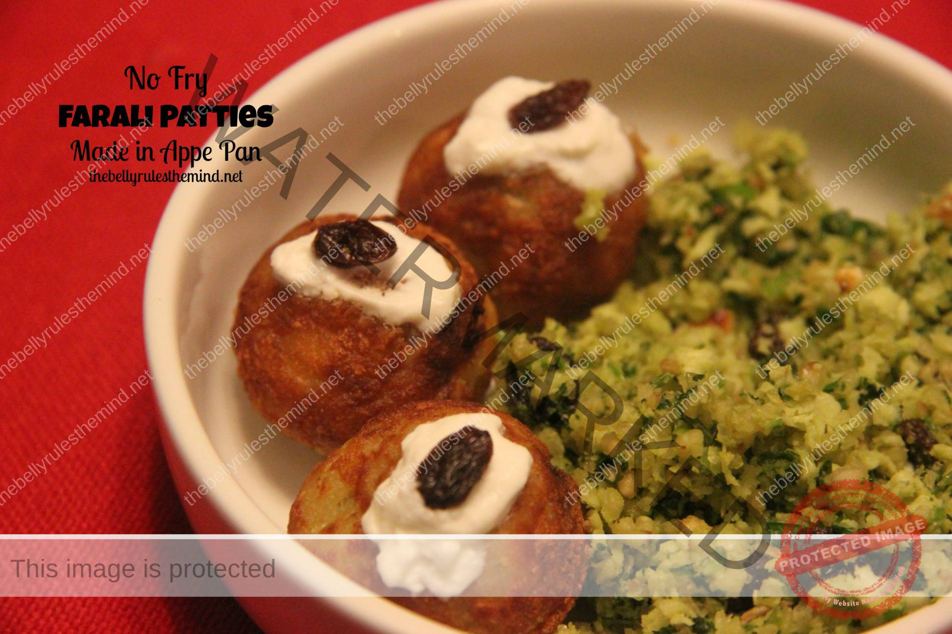 Farali (Fasting) Patties made in appe pan