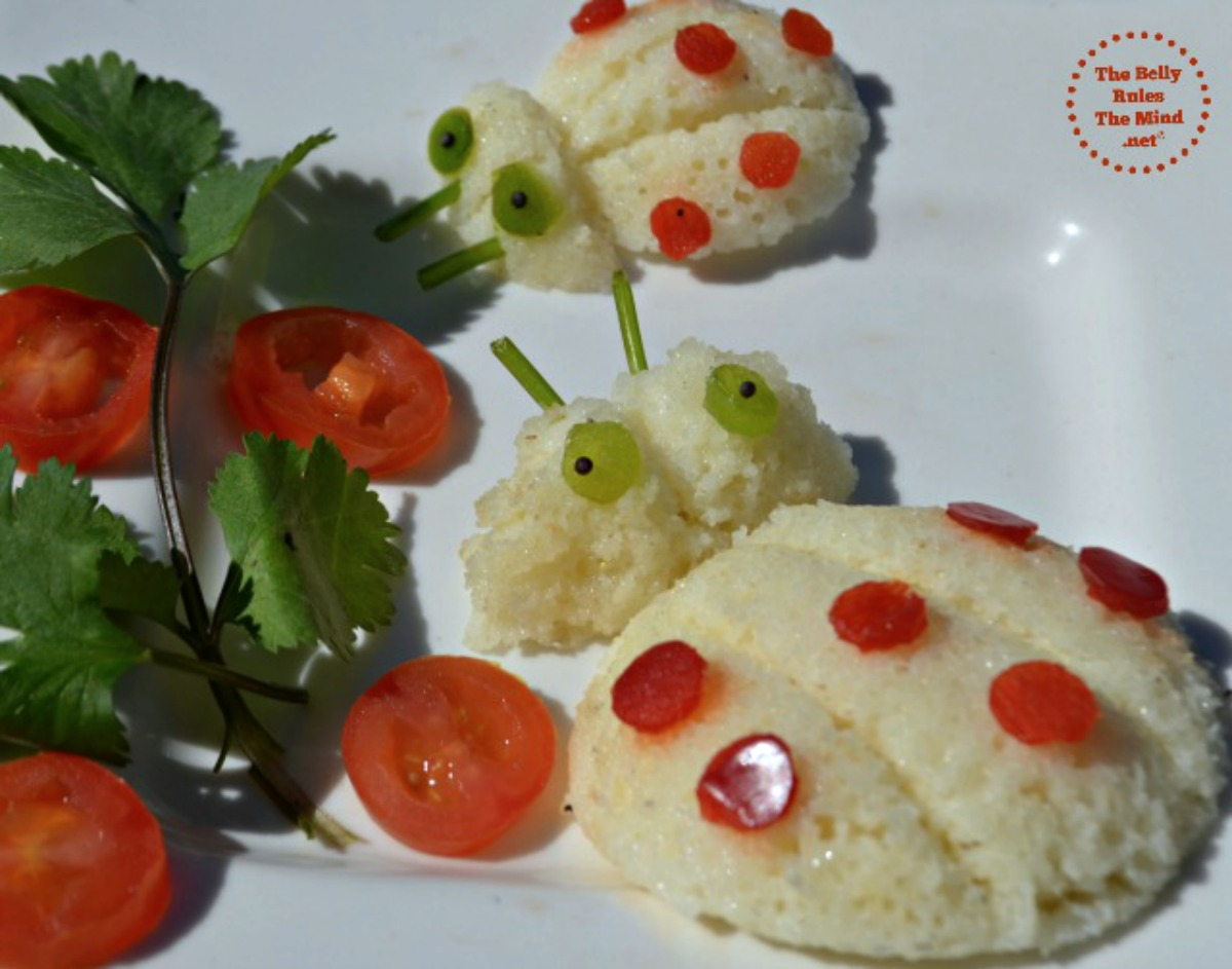 lady bug idli food art