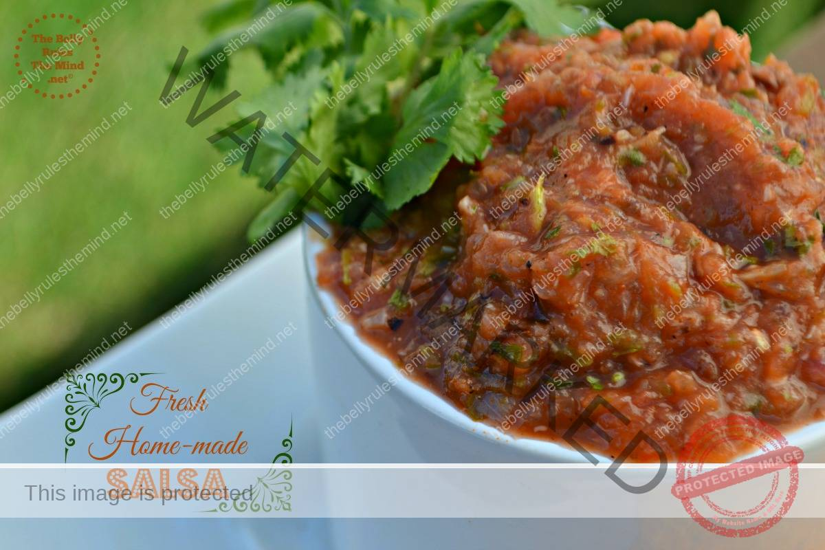 Fresh home-made salsa