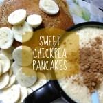 Sweet Chickpea Pancakes.