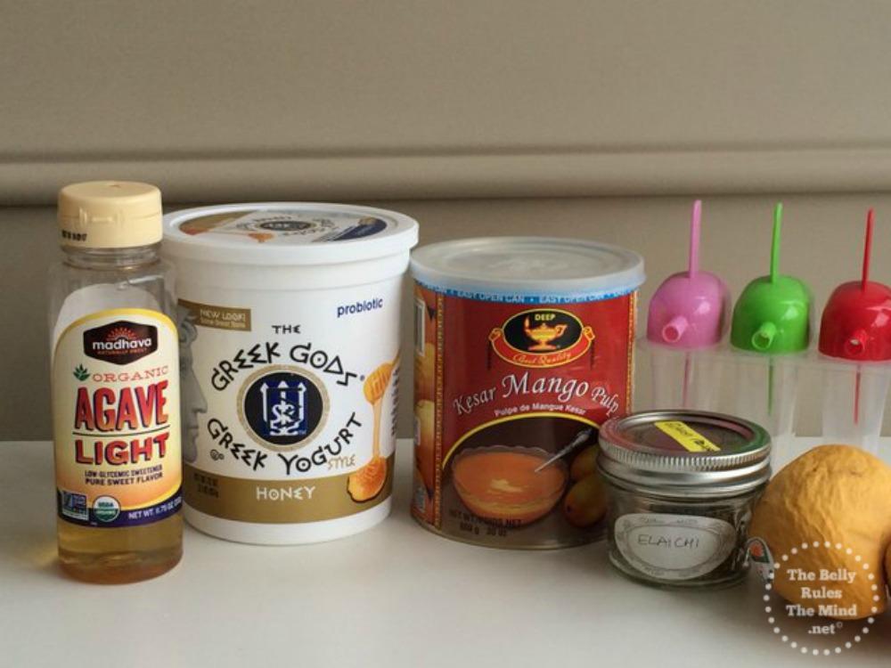 Mango lassicle ingredients