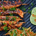Szechuan Chicken satay/skewers