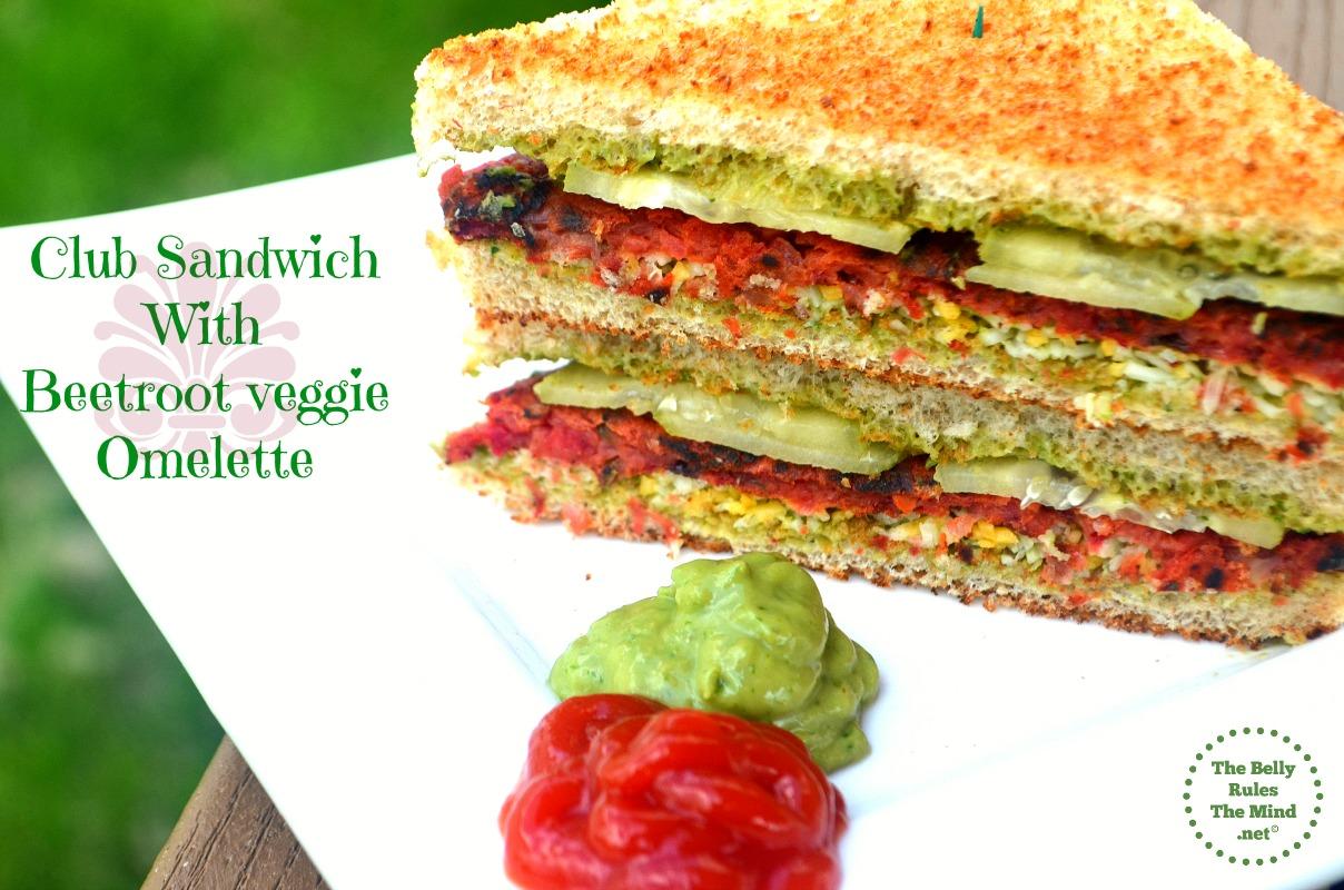 beetroot club sandwich