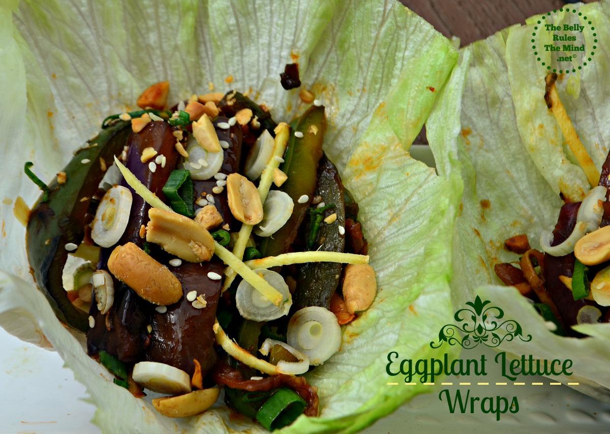Eggplant Lettuce wraps