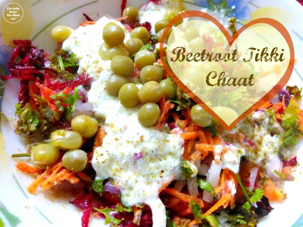 Beetroot Tikki Chaat.