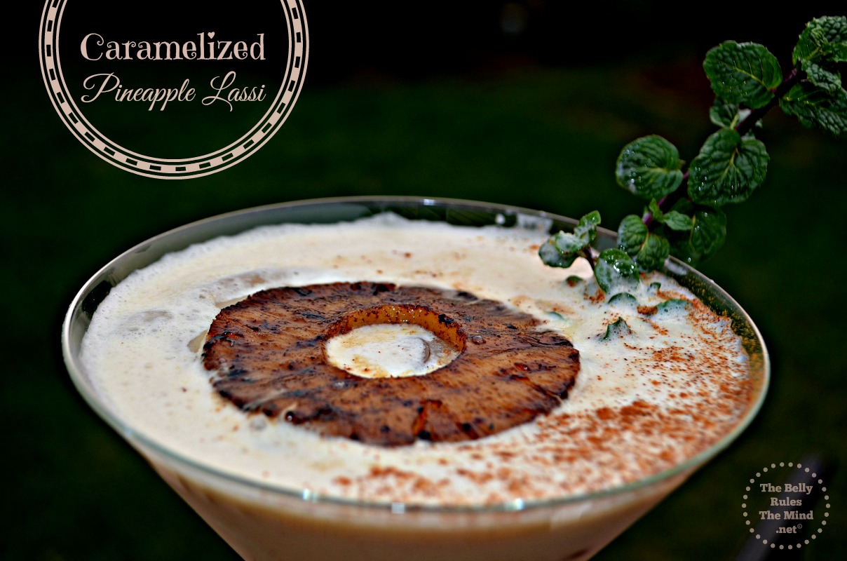 caramelized pineapple lassi