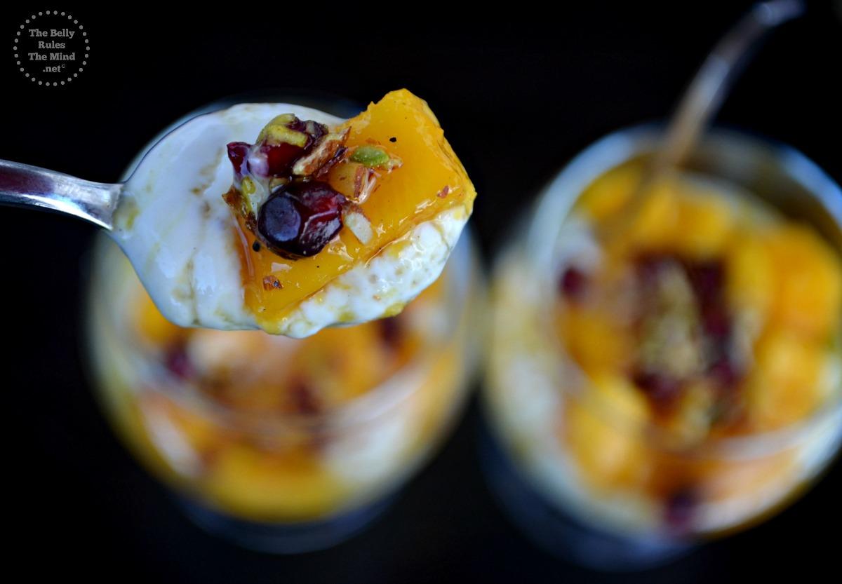 Honey Shrikhand with mango