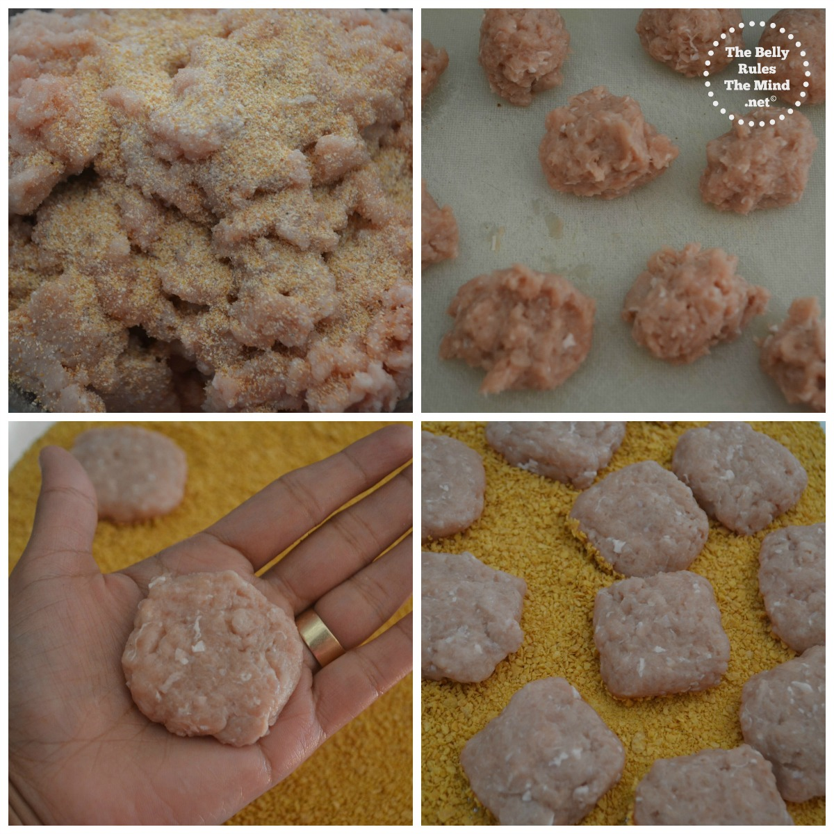 Home-made chicken nuggets