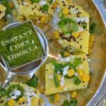 Instant Corn Dhokla