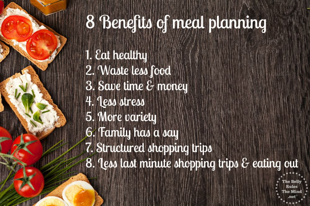 8 meal planning benefits