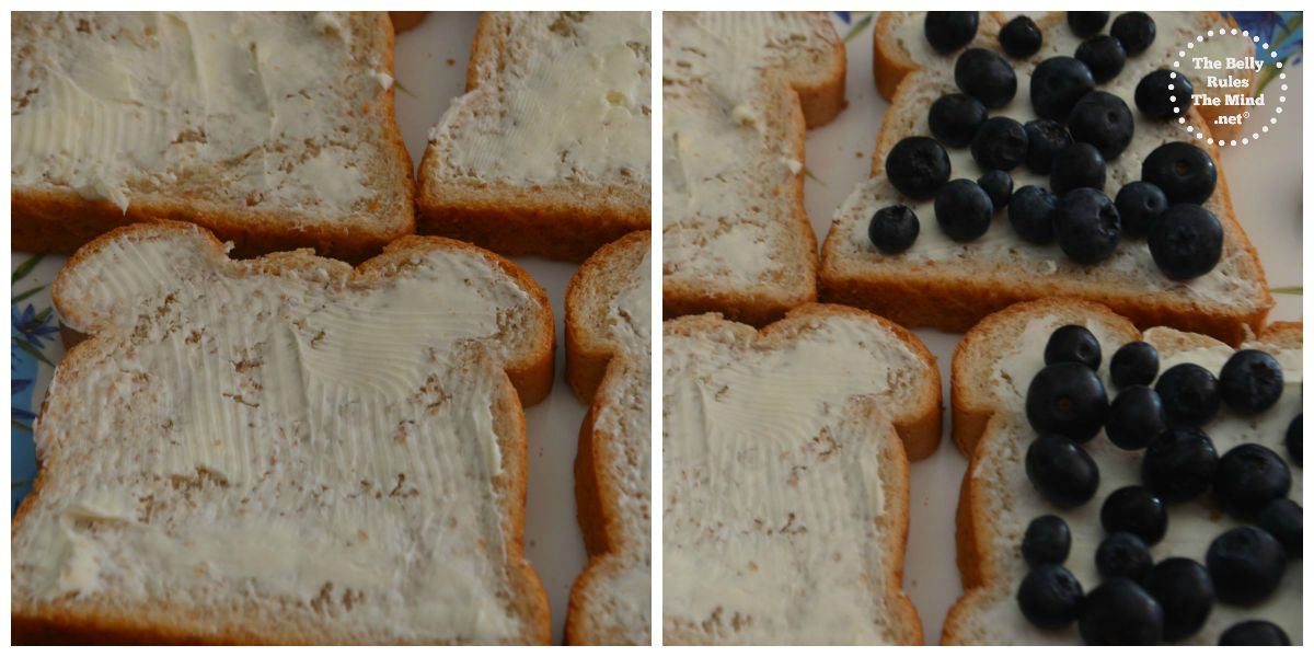 grilled blueberry sandwhich