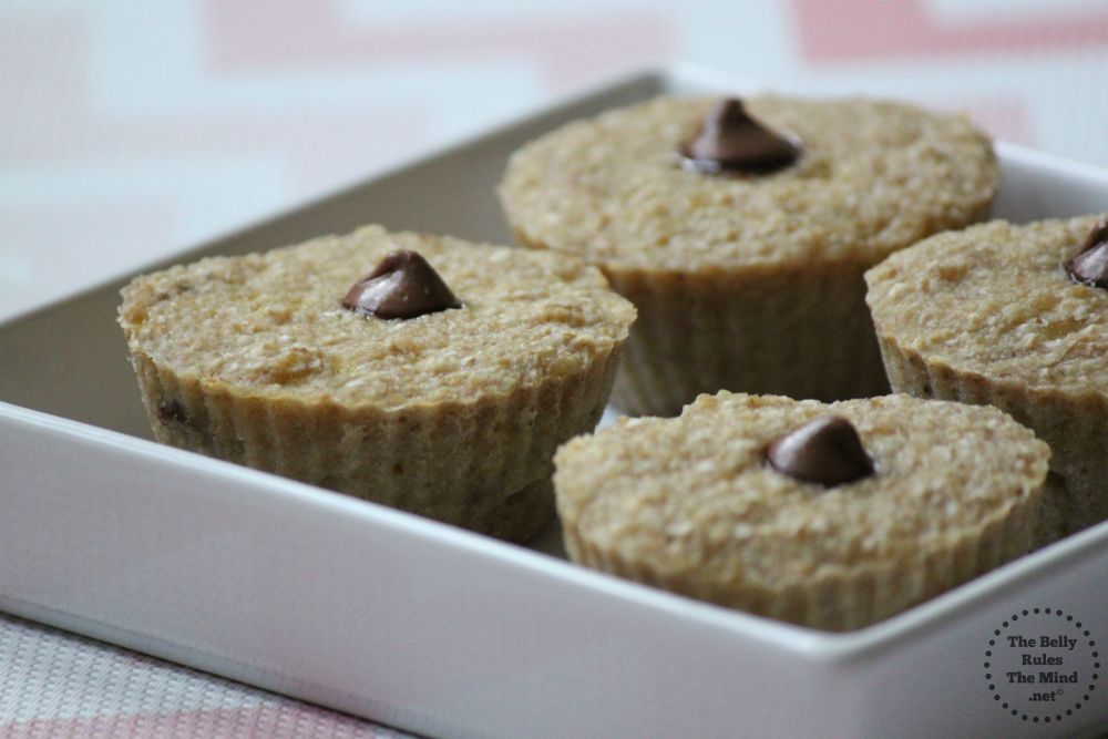 3 ingredient oats muffins