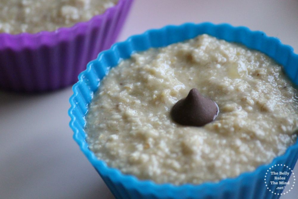 pour batter into the muffin cup