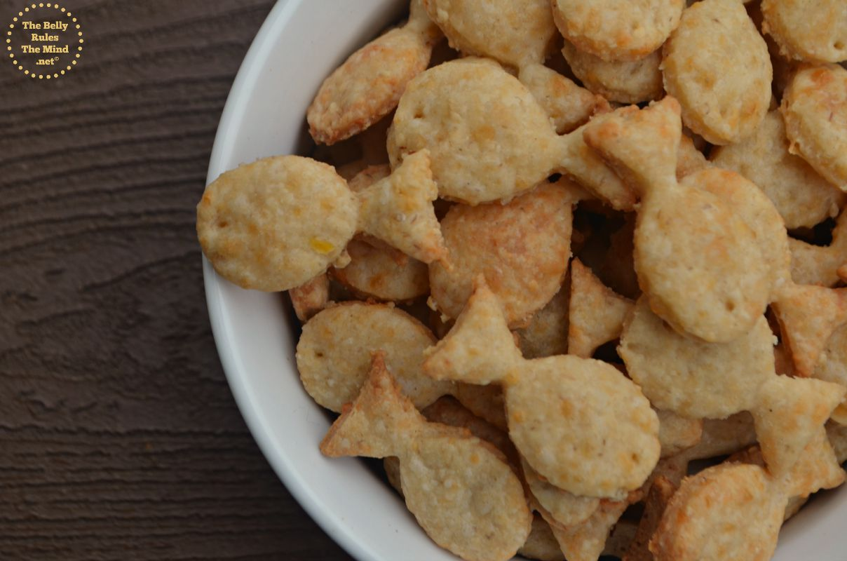 Home-made Goldfish cheese cracker