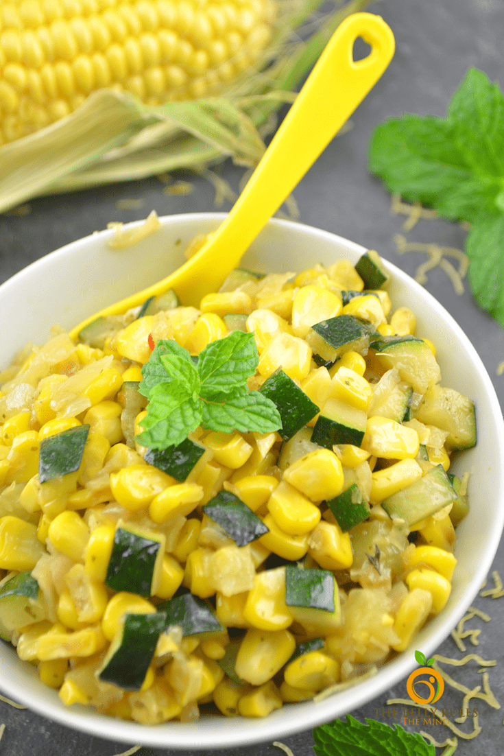 Zucchini & Corn Sabzi / Saute | The Belly Rules The Mind