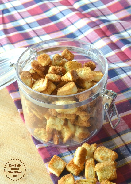 Herb crouton