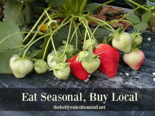 Strawberries Eat seasonal buy local