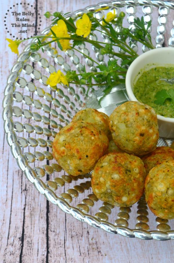 Sabudhana vada. sago vada in appe pan