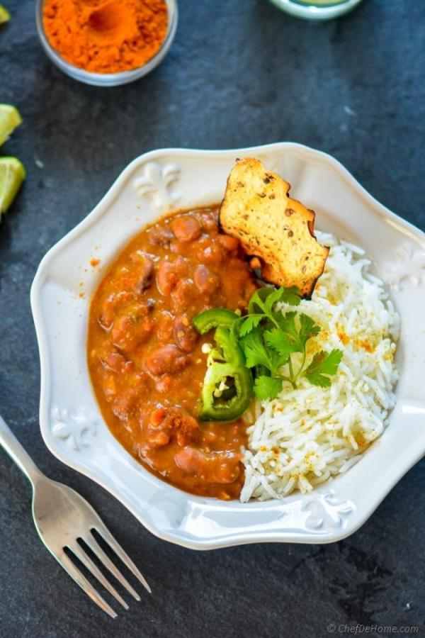 Slow Cooked Curried Kidney Beans