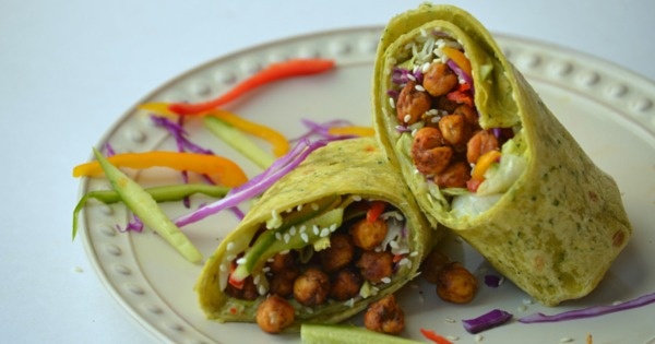 Chickpeas Spinach Wraps