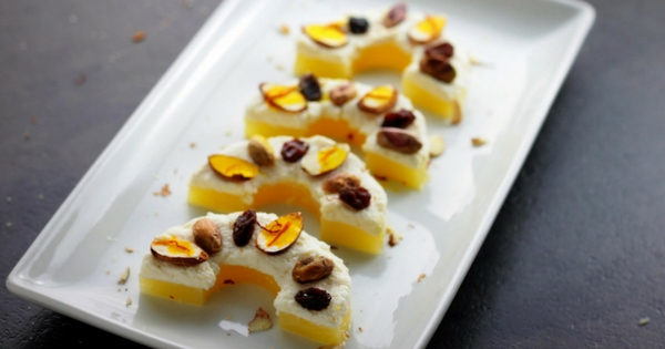 Healthy Pineapple Sandesh Mithai