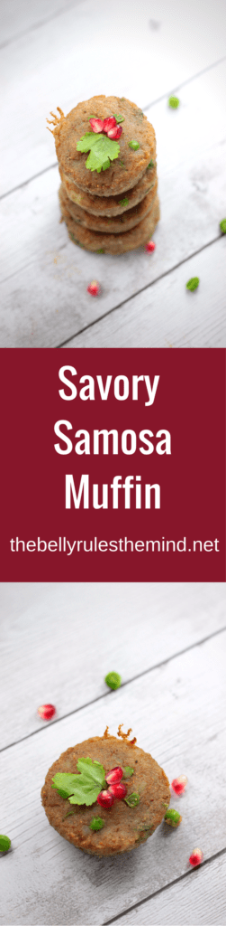 Savory Samosa Muffins make a great party appetizer breakfast or snack specially for parties. These no mess muffins are an absolute delight to relish as is or as chaat. | www.thebellyrulesthemind.net