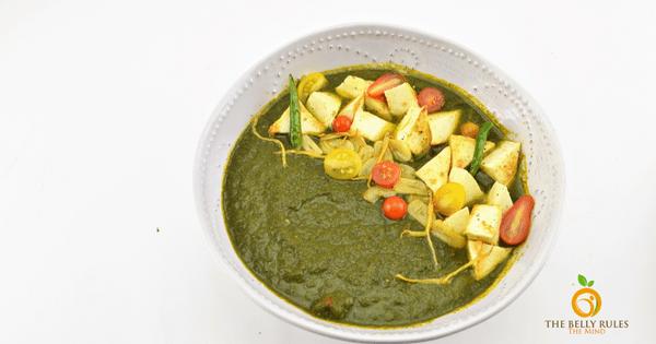 Palak Paneer Bowl (Gluten- free + Vegetarian)