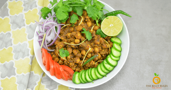 Pindi Chole / Indian Style Dry Garbanzo Beans