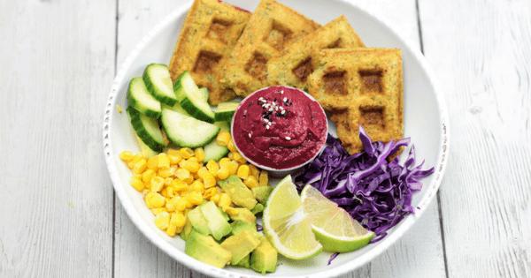 Falafel Waffles (V+GF)