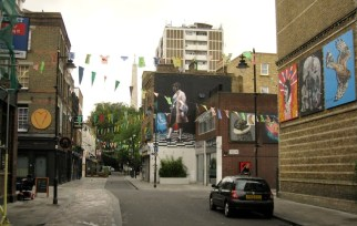 Art installations on Whitecross St