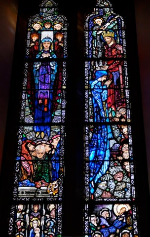 Assumption and Coronation of Mary windows