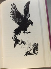 Victor Ambrus, 1964, Thunder of the Gods, Dorothy G Hosford. A favourite illustrator of both of ours - I loved his illustrations to Sutcliff's Tristan and Iseult.