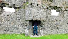 Clyde examines a medieval chimney