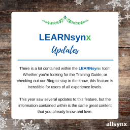 12 Days of Christmas – LEARNsynx Updates