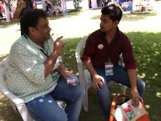 Mukul Chand and Basu Rai in deep discussion