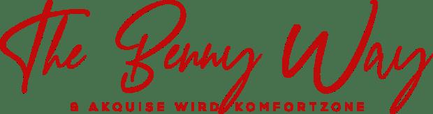 Logo geschrieben The Benny Way & Akquise wird Komfortzone