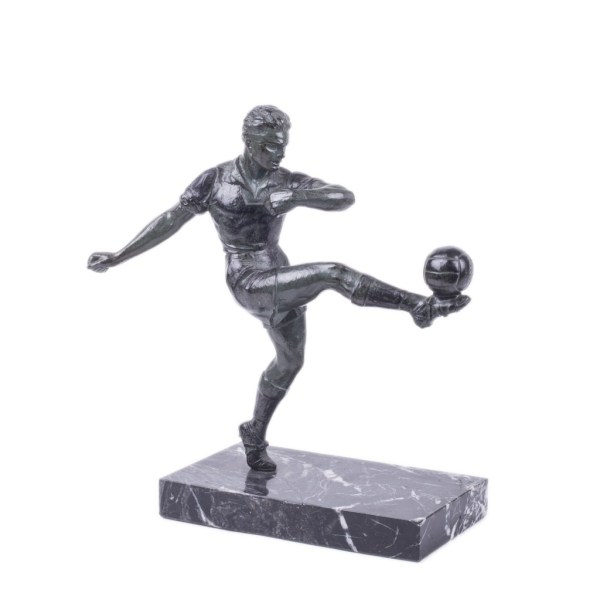 Spelter Footballer Sculpture